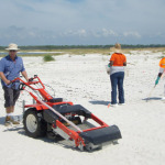 Beach cleaning machine